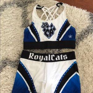 Cheer athletics royalcats worlds practice wear